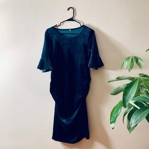 Dresses & Skirts - Emerald Green Maternity Dress - Holiday Perfect